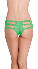 Cut Out Rave Short - Green