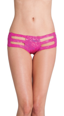 Cut Out Rave Short - Fuschia