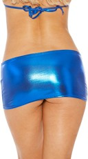 Metallic Peek-A-Boo Mini Skirt - Royal