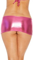 Metallic Peek-A-Boo Mini Skirt - Magenta