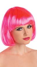 Foxy Babe Bob Wig - Hot Pink