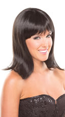 Medium Length Doll Wig - Black
