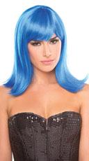 Medium Length Doll Wig - Light Blue