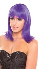 Medium Length Doll Wig - Purple