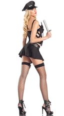 Sexy Naughty Officer Costume - As Is