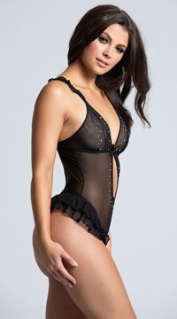 Ruffled Tail Feathers Teddy - Black