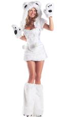 Polar Bear Babe Costume