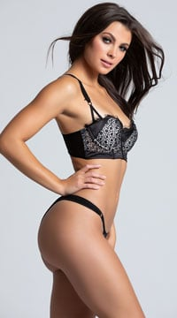 Web Mesh Bra Set - Black