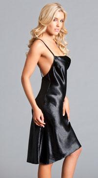 ad325fcb03f ... Elena Seduction Slip Dress - Black