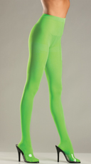 Show Stopper Pantyhose   - Lime Green