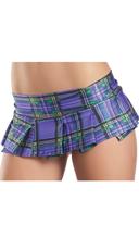 Pleated Micro Mini Skirt - Purple