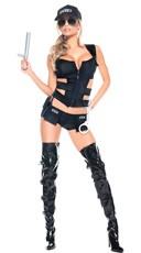 Sexy Sheriff Costume Set - Black