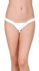 Low Rise Comfort Thong - White