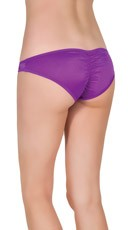 Low Rise Scrunch Back Panties - Purple