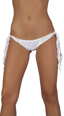 Ribbon Tie Side Panty - White