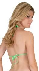 Halter Style Lycra Top - Neon Green
