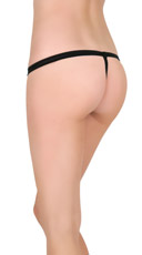 Crotchless Jeweled G-string - Black