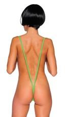 Sexy Suspender Teddy - Neon Green