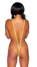 Sexy Suspender Teddy - Neon Yellow
