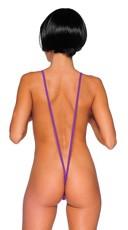 Sexy Suspender Teddy - Purple