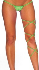 Spaghetti Body Wrap - 60 inch - Neon Green