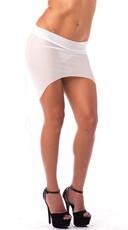 High Low Mesh Skirt - White