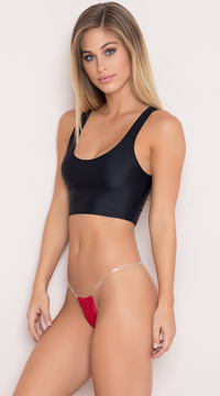 Invisible Strap G-String - Red