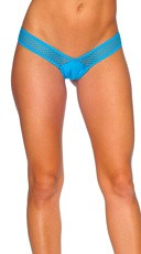 Micro Honeycomb Thong - Turquoise