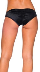 Low Rise Scrunch Back Panties - Black