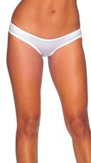 Low Rise Scrunch Back Panties - White