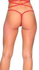 Low Back Lace G-String - Red