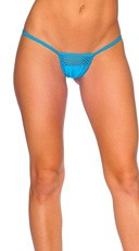 Lycra G-String with Honeycomb Front - Turquoise