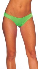 Bright Scrunch Back Bottom - Neon Green