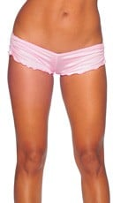 Scrunch Side Shorts - Baby Pink