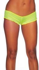 Scrunch Side Shorts - Neon Yellow
