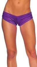 Scrunch Side Shorts - Purple