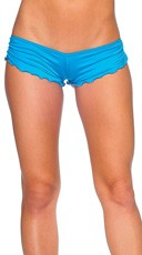 Scrunch Side Shorts - Turquoise