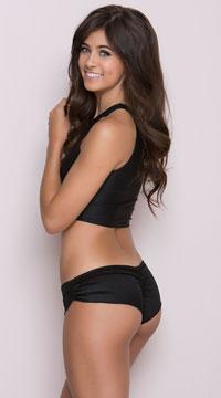 Scrunch Side Shorts - Black