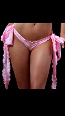 Low Rise Shorts with Extra Long Ties - Baby Pink