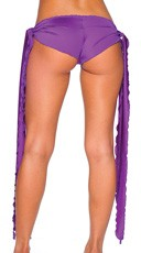Low Rise Shorts with Extra Long Ties - Purple