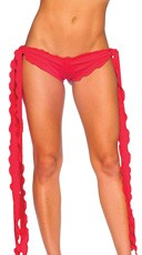 Low Rise Shorts with Extra Long Ties - Red
