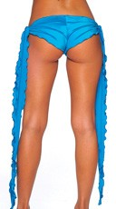 Low Rise Shorts with Extra Long Ties - Turquoise