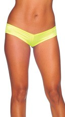 Super Micro Lycra Booty Shorts - Neon Yellow