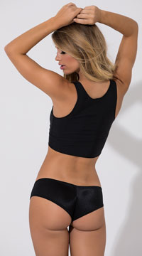 Super Micro Lycra Booty Shorts - Black