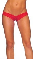 Lace Micro Thong - Red