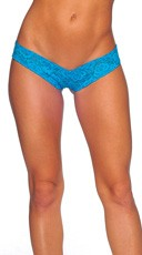 Lace Micro Thong - Turquoise