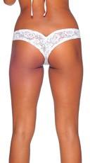 Lace Micro Thong - White