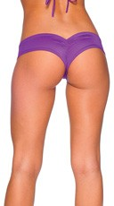 Super Micro Lycra Booty Shorts - Purple