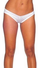 Super Micro Lycra Booty Shorts - White