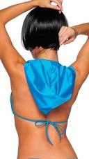 Sexy Lycra Hooded Bikini Top - Turquoise
